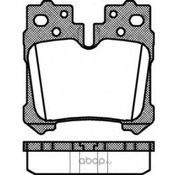 Комплект тормозных колодок, дисковый тормоз (Remsa) 132100