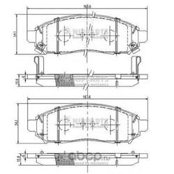 Комплект тормозных колодок, дисковый тормоз (Nipparts) J3601095