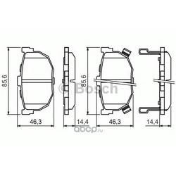 Колодки тормозные дисковые, комплект (Bosch) 0986424418