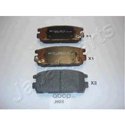 Комплект тормозных колодок, дисковый тормоз (Japanparts) PPH03AF