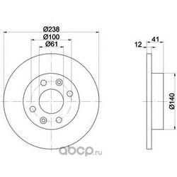 Диск тормозной TEXTAR (Textar) 92036103