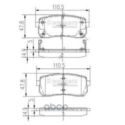 Комплект тормозных колодок, дисковый тормоз (Nipparts) N3610308