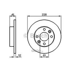 Диск тормозной (Bosch) 0986479165
