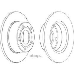 Тормозной диск (Ferodo) DDF321