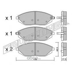 Комплект тормозных колодок, дисковый тормоз (Trusting) 9250