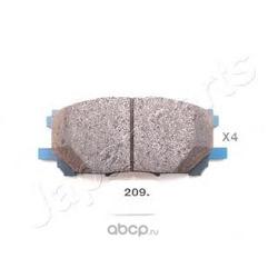 Комплект тормозных колодок, дисковый тормоз (Japanparts) PA209AF