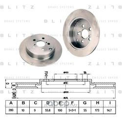 Тормозной диск (Blitz) BS0220
