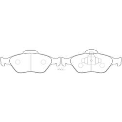 Колодки тормозные дисковые (FIT) FP5157