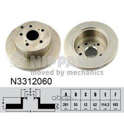 Тормозной диск (Nipparts) N3312060