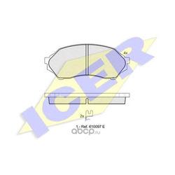 Комплект тормозных колодок, дисковый тормоз (Icer) 181309