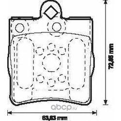 Комплект тормозных колодок, дисковый тормоз (Jurid) 571925J