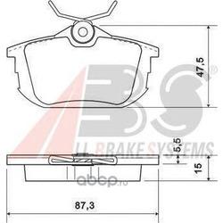 Комплект тормозных колодок, дисковый тормоз (Abs) 36950