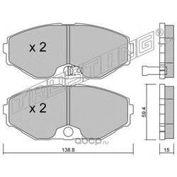 Комплект тормозных колодок, дисковый тормоз (Trusting) 4200