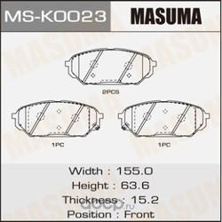 Колодки тормозные (Masuma) MSK0023