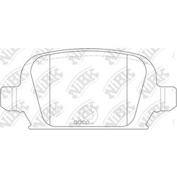 Колодки тормозные дисковые (NiBK) PN0192