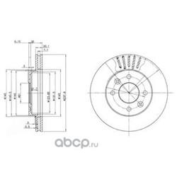 Тормозной диск (Delphi) BG2282