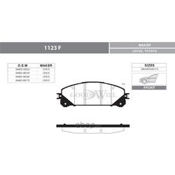 Колодки тормозные дисковые передние, комплект (Goodwill) 1123F