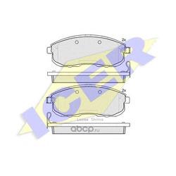 Колодки тормозные дисковые, комплект (Icer) 181882
