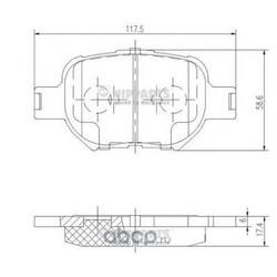 Комплект тормозных колодок, дисковый тормоз (Nipparts) J3602091