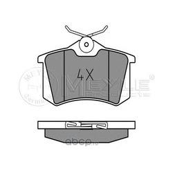 Комплект тормозных колодок (Meyle) 0252096117PD