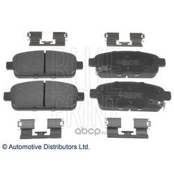 Комплект тормозных колодок, дисковый тормоз (Blue Print) ADG042123