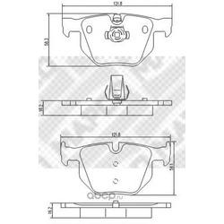 Комплект тормозных колодок, дисковый тормоз (Mapco) 6719
