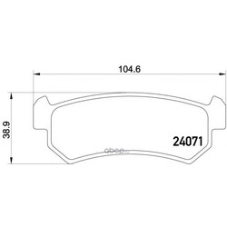Колодки тормозные дисковые TEXTAR (Textar) 2407101