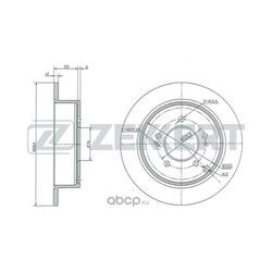 диск тормозной зад (Zekkert) BS5207