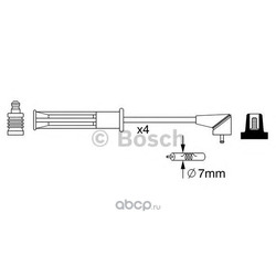 Комплект проводов зажигания (Bosch) 0986357256