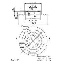 Тормозной диск (Brembo) 08971910