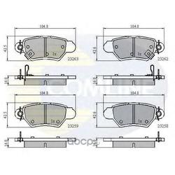 Комплект тормозных колодок, дисковый тормоз (Comline) CBP3750