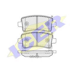 Колодки тормозные дисковые, комплект (Icer) 181929