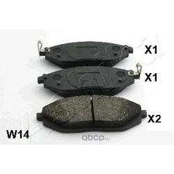 Комплект тормозных колодок, дисковый тормоз (Ashika) 500WW14