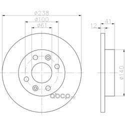 Тормозной диск (Hella) 8DD355101241