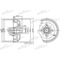 Барабан тормозной задний (PATRON) PDR1115