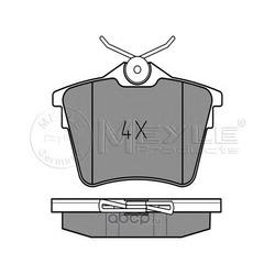 Комплект тормозных колодок, дисковый тормоз (Meyle) 0252413517
