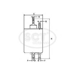 Топливный фильтр (SCT) ST6084