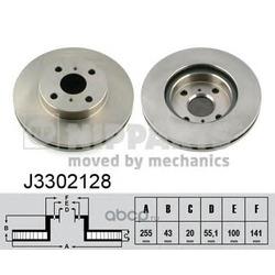 Тормозной диск (Nipparts) J3302128