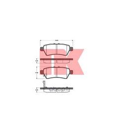 Комплект тормозных колодок, дисковый тормоз (Nk) 222265