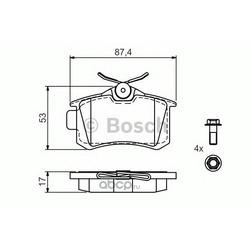 Комплект тормозных колодок, дисковый тормоз (Bosch) 0986494516