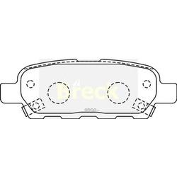 Комплект тормозных колодок, дисковый тормоз (BRECK) 238710070210