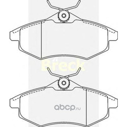 Комплект тормозных колодок, дисковый тормоз (BRECK) 234070070200