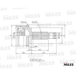 ШРУС HYUNDAI I30/KIA CEED 1.4-1.6 06- нар. (ABS) (Miles) GA20167