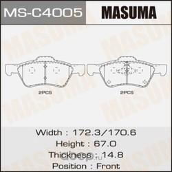 Колодки тормозные дисковые (Masuma) MSC4005