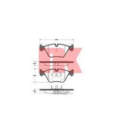 Колодки тормозные дисковые, комплект (Nk) 221508