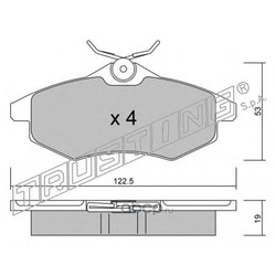 Комплект тормозных колодок, дисковый тормоз (Trusting) 3370