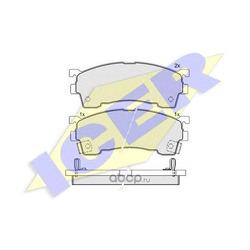 Комплект тормозных колодок, дисковый тормоз (Icer) 180971203