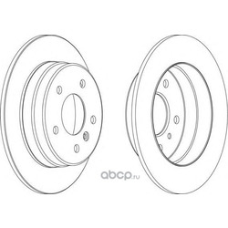 Тормозной диск (Ferodo) DDF1362