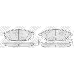 Колодки тормозные дисковые (NiBK) PN0570