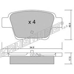 Комплект тормозных колодок, дисковый тормоз (Trusting) 6550